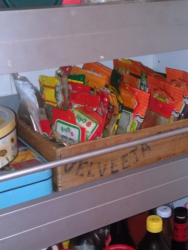 My new spice box in my pantry