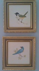 These little birds were painted by Grandma Rae (Nick's nanna) - thesecondhandcity.com